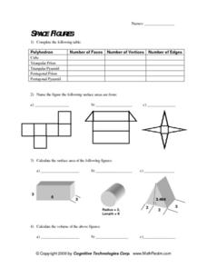 Space Figures Lesson Plan