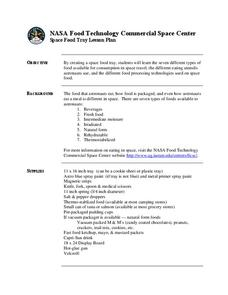 Space Food Tray Lesson Plan
