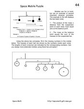 Space Mobile Puzzle Worksheet