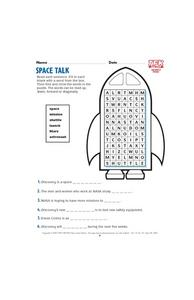 Space Talk Lesson Plan