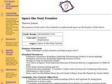 Space the Next Frontier Lesson Plan