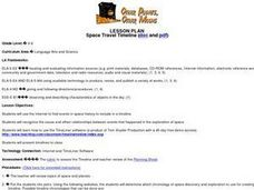 Space Travel Timeline Lesson Plan