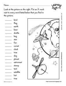 Images of Space Shuttle Worksheets - #SpaceHero