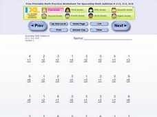 Spaceship Math Addition H Worksheet
