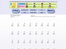 Spaceship Math Addition U Worksheet