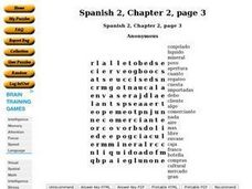 Spanish 2, Chapter 2, page 3 Worksheet