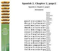 Spanish 2, Chapter 2, page2 Worksheet