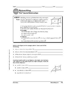 Spatial Relationships Worksheet