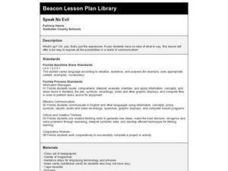 SPEAK NO EVIL Lesson Plan
