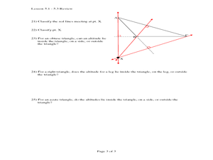 Special Segments is a Triangle 10th Grade Worksheet | Lesson Planet