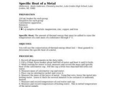 Specific Heat of Metal Lesson Plan