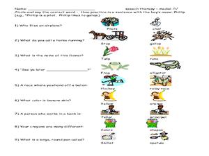 Worksheets Speech Therapy Worksheets speech therapy sentence practice 2nd 3rd grade worksheet worksheet