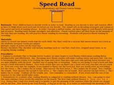 Speed Read Lesson Plan
