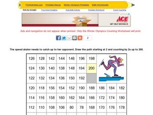 Speed Skater Math Maze Worksheet
