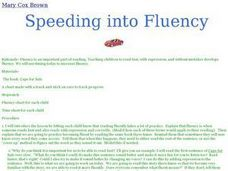 Speeding into Fluency Lesson Plan