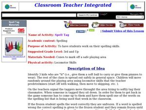 Spell Tag Lesson Plan