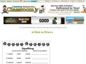 Spelling #2 Worksheet