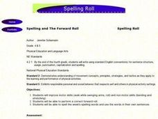 Spelling and The Forward Roll Lesson Plan