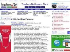 Spelling Payment (Elementary, Mathematics) Lesson Plan