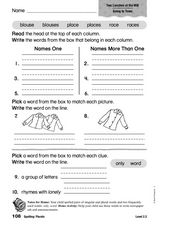 Spelling Plurals Worksheet