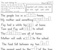 Spelling Practice Sight Words 7 Worksheet