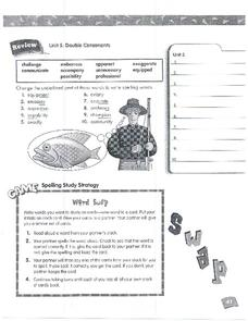 Spelling Review Page 41 Worksheet