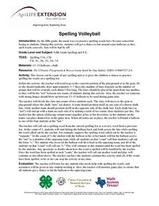 Spelling Volleyball Lesson Plan