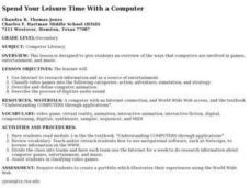 Spend Your Leisure Time With a Computer Lesson Plan