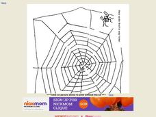 Spider Maze Worksheet