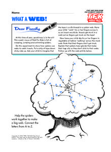 Spider Web Dot to Dot Lesson Plan