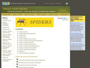 Spiders Paso Partners Lesson Plan