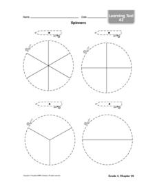 Spinners Worksheet