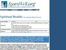 Spiritual Health: Serving the Whole Person Lesson Plan