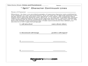 """Split"" Character Studies in Crime and Punishment Lesson Plan"