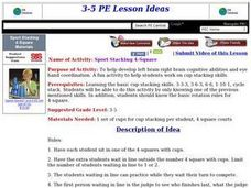 Sport Stacking 4-Square Lesson Plan