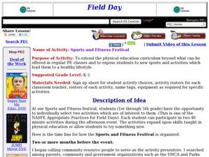 Sports and Fitness Festival Lesson Plan