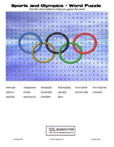 Sports and Olympics - Word Puzzle Lesson Plan