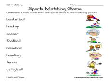 sports worksheets for preschool
