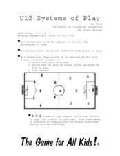 Sports: Soccer Formations Lesson Plan
