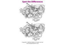 Spot the Differences-- Children's Toys Worksheet