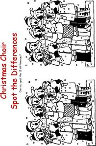 Spot the Differences-- Christmas Choir Worksheet