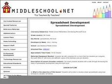 Spreadsheet Development Lesson Plan