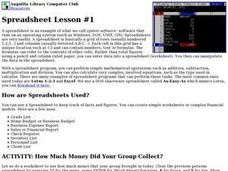 Spreadsheet Lession #1 Lesson Plan