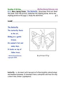 Spring Activities Worksheet