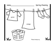 Spring Cleaning Worksheet