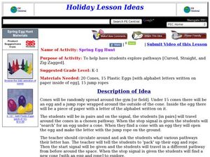 Spring Egg Hunt Lesson Plan