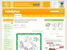 Spring Game: Forest Friends Connect-the-Dots Lesson Plan