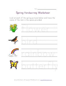 Spring Handwriting Worksheet Worksheet