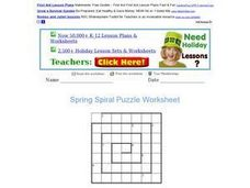 Spring Spiral Puzzle Worksheet Worksheet