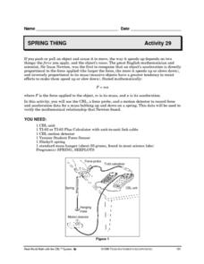Spring Thing Lesson Plan